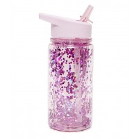 Drikkedunk, pink glimmer - 300 ml.