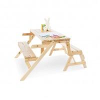 2 i 1 havemøbelsæt til børn, Elli - natur