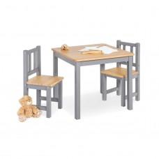 Børnebord og stolesæt, Fenna - grå