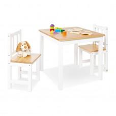Børnebord og stolesæt, Fenna - Hvid