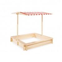 Sandkasse med baldakin, Leonie - 120 x 120 cm