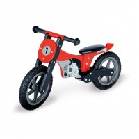 Motocross løbecykel, Mika - rød/sort/grå