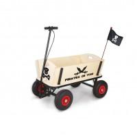 Trækvogn med bremse, Pirat Jack - Ubehandlet træ