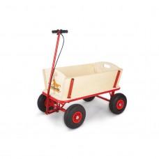 Trækvogn med bremse, Til - Ubehandlet træ