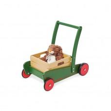 Gåvogn med trækasse, Tom - grøn