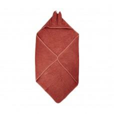Håndklæde med hætte, Marsala (rød)