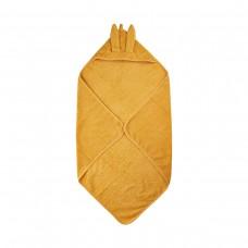 Håndklæde med hætte, Mineral yellow (gul)