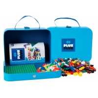 Kuffert med 400 brikker, blå