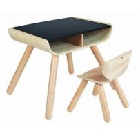 Bord og stol - sort
