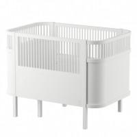 Sebra seng, baby/junior - hvid