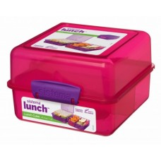 Madkasse lunch cube Pink - 1,4 Liter
