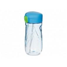 Drikkeflaske med sugerør, blå