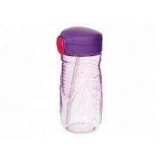 Drikkeflaske med sugerør, lilla