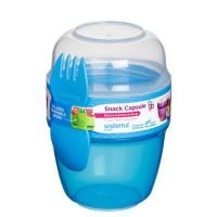 Snack capsule to-go, blå