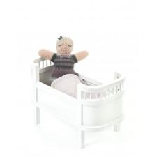 Miniature dukkeseng, hvid