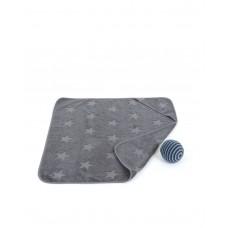 Baby badehåndklæde, grey