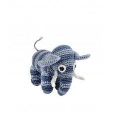 Hæklet elefant - Denim