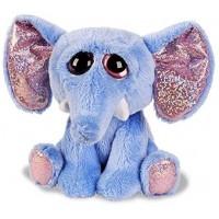 Elefant, blå og lyserødt glimmer
