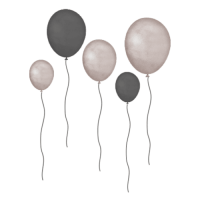 Balloner, grå-brune - Wall Stories