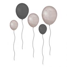 Wallstories - Balloner, grå-brune