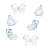 Wallstories - Blå sommerfugle - sæt af 6