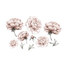 Wallstories - Peony Flower