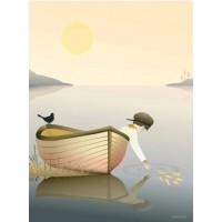 Boy in a boat - Plakat (50x70cm)