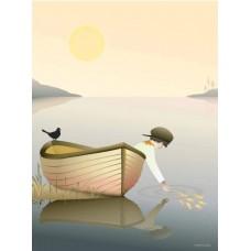 Boy in a boat - Plakat (30x40cm)