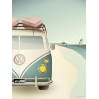 VW-camper - Plakat (30x40cm)