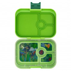 Madkasse, panino - jungle tray (4 rum), Congo Green