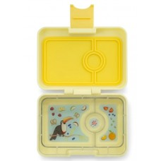 Madkasse, minisnack explore tray (3 rum) - Sunburst Yellow