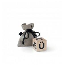 Træklods, special letters - sort